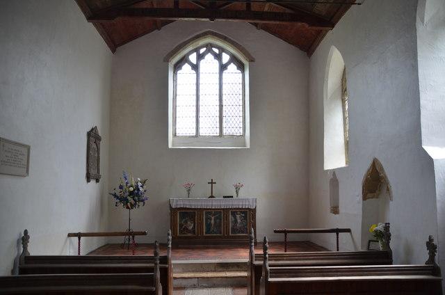 Interior, All Hallows church, Clixby