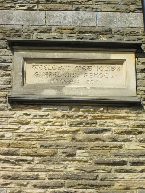 Building  plaque on  Wesleyan  Chapel  (converted)