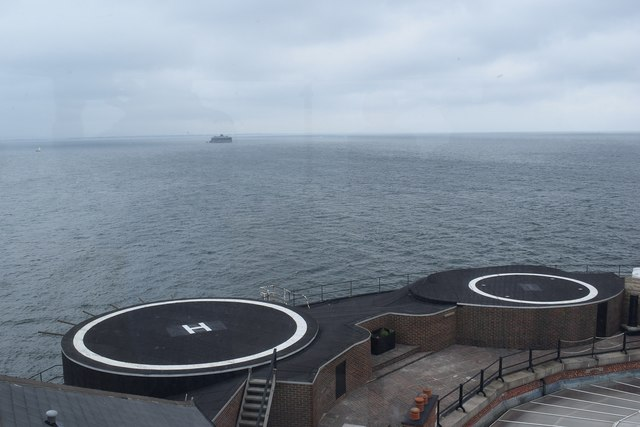 No Man's Land Fort - Helipads from the lighthouse