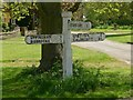 SP8797 : Fingerpost on Lyddington Green by Alan Murray-Rust