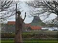 NU1241 : Statue of St Aidan, Holy Island of Lindisfarne by Robin Drayton