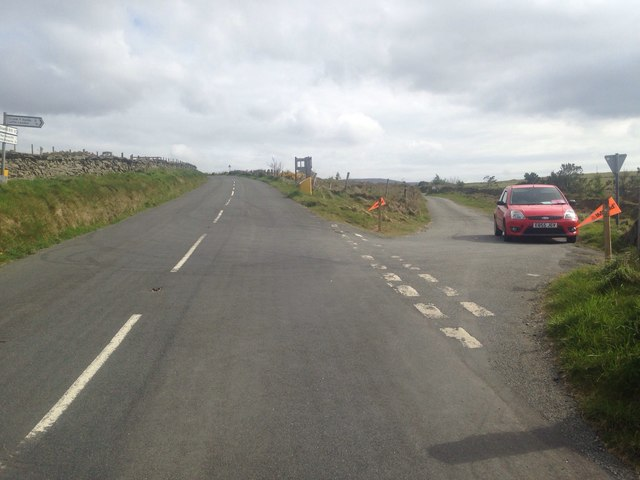 Road junction on the B10