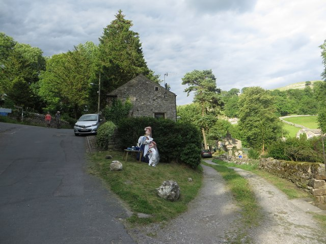 Tea drinking scarecrows, Kettlewell