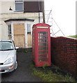 SN7910 : Red phonebox, Brecon Road, Ystradgynlais by Jaggery