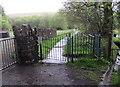 SN7910 : Gate to a path south of Tirwaun Lane,  Ystradgynlais by Jaggery
