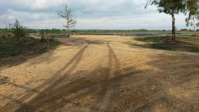 New National Trust car park under construction at Foxbury