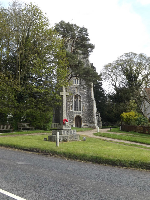 Earl Soham War Memorial & St.Mary's Church