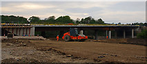 SD4964 : Lune West Bridge under construction by Ian Taylor
