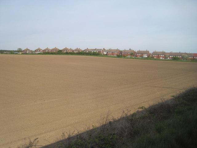 View from a Newcastle-Edinburgh train - edge of Widdrington