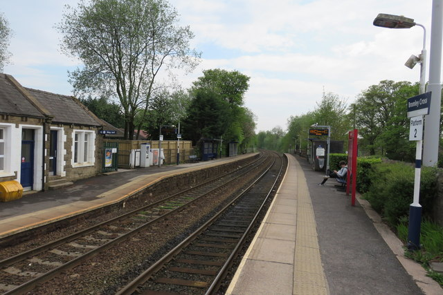 Bromley Cross railway station - looking south