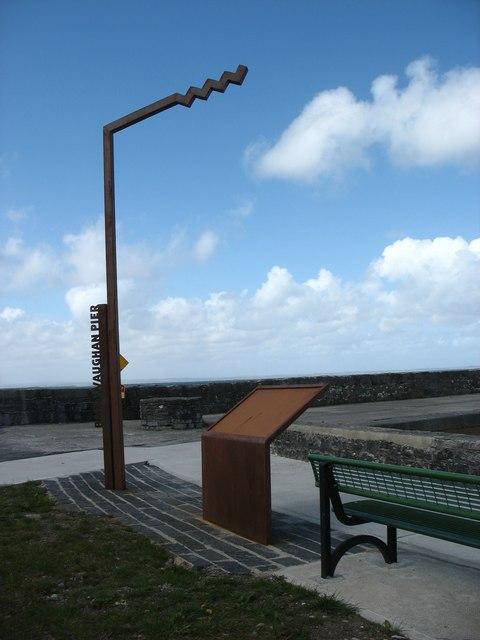 The Wild Atlantic Way marker at Ballyvaughan Pier