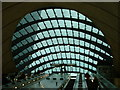 TQ3780 : Entrance Canopy of Canary Wharf Tube Station, London by Road Engineer