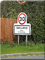 TM1953 : Swilland Village Name sign on High Road by Adrian Cable