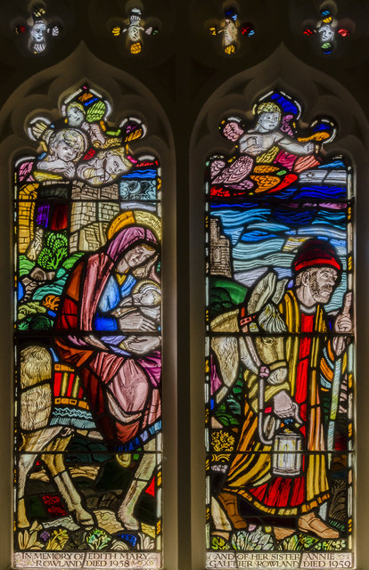 Stained glass window, St Mary's church, East Barkwith