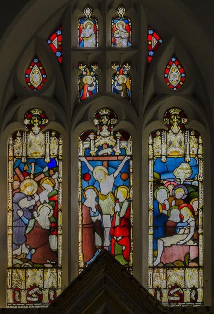 East window, St Mary's church, East Barkwith