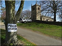 SK4968 : St Leonard's Church Polling Station, Scarcliffe by Neil Theasby