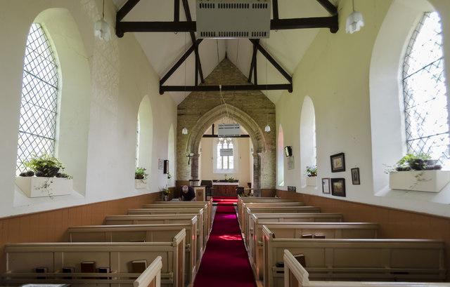 Interior, St Peter's church, Friesthorpe