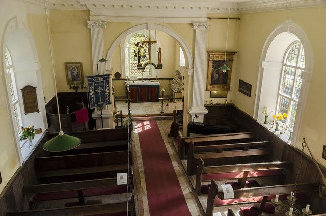 Interior, All Saints' church, Gautby
