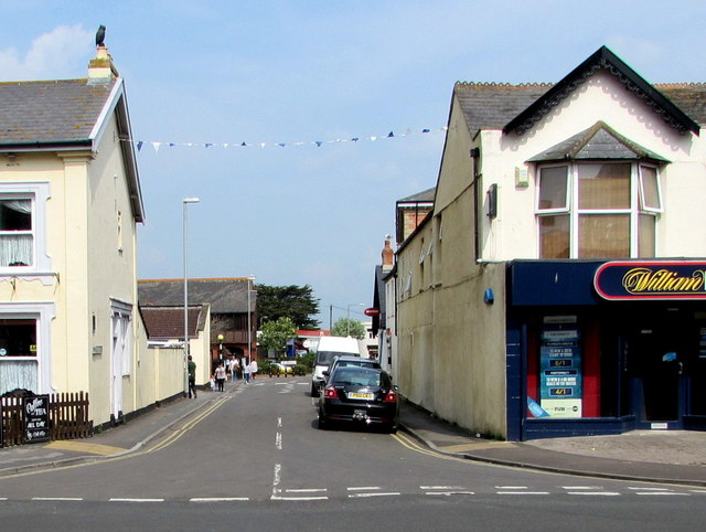 Western end of Princess Street, Burnham-on-Sea