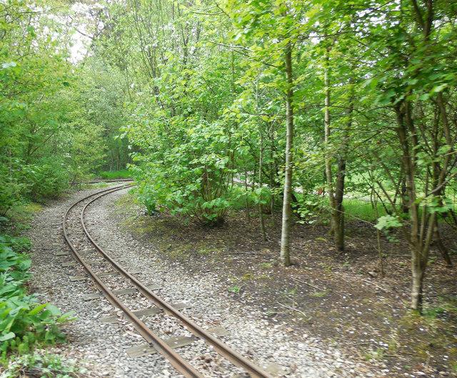 Steam Railway tracks, Exbury Gardens by Paul Gillett