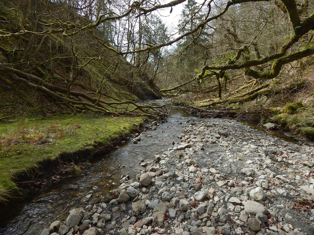 The bed of the Murroch Burn