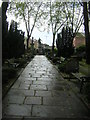 TQ3782 : Looking up the path from Bow Church by Christopher Hilton