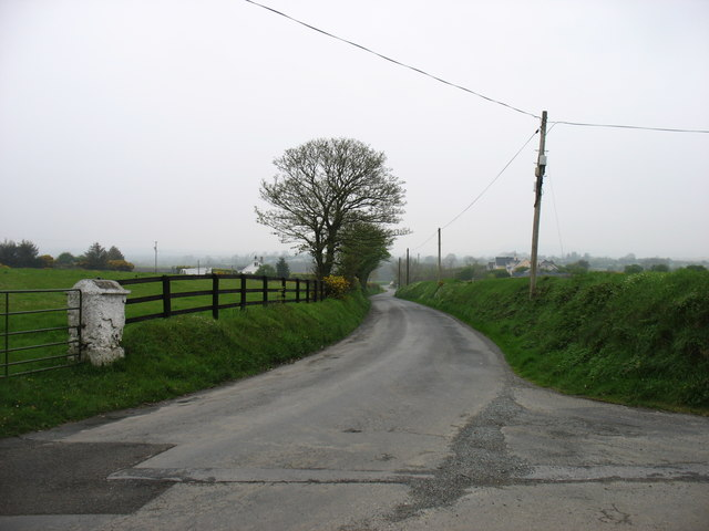 A minor road to Ballaghkeen