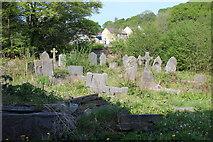 ST1897 : Corner of Penmaen Graveyard by M J Roscoe