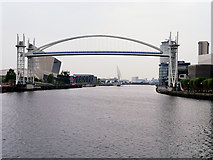 SJ8097 : Lowry Bridge (Raised) by David Dixon