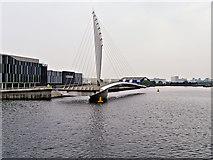 SJ8097 : MediaCity Swingbridge Open by David Dixon