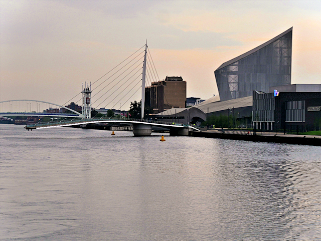 Manchester Ship Canal, MediaCityUK and Salford Quays