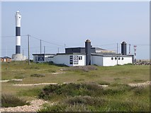 TR0916 : The Britannia Inn and the new lighthouse at Dungeness by Oliver Dixon