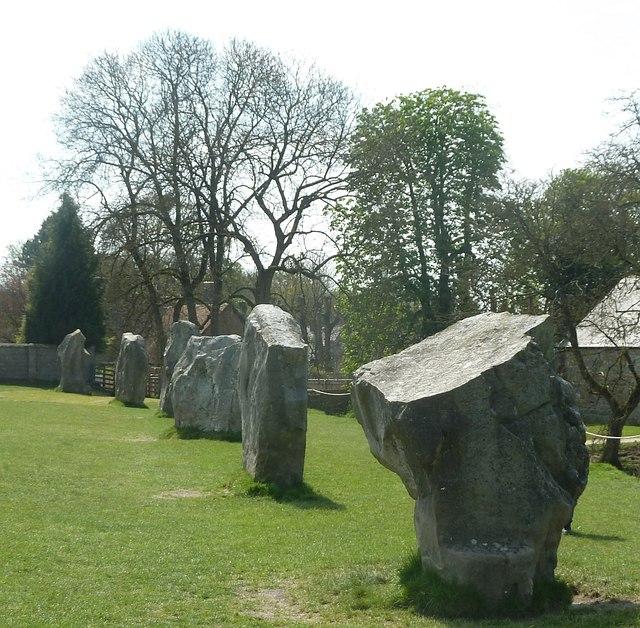 Avebury - Stones on western side
