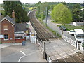TL5327 : View from the footbridge at Elsenham station by Marathon
