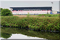 SJ7596 : Manchester Ship Canal, AJ Bell Stadium by David Dixon