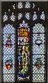 TF0090 : Stained glass window, Ss Peter & Paul church, Glentham by Julian P Guffogg