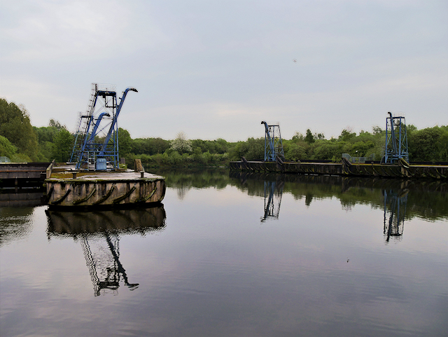 Wharf and Sludge Hoppers at Davyhulme Wastewater Treatment Works