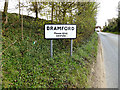 TM1248 : Bamford Village Name sign on Paper Mill Lane by Adrian Cable