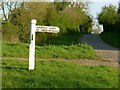 SK8305 : Braunston Road, junction to Leighfield Lodge by Alan Murray-Rust