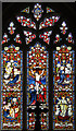 TL4945 : St Mary & St John, Hinxton - Stained glass window by John Salmon