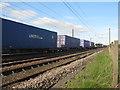 NT5179 : Container train at Drem by M J Richardson