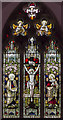 SK9389 : East window, St Chad's church, Harpswell by Julian P Guffogg