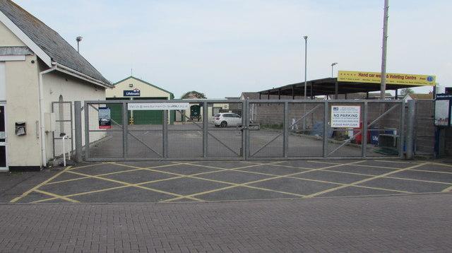 Entrance gates to the RNLI Lifeboat Station, Burnham-on-Sea