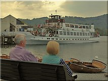 SD4096 : Late Summer Afternoon at Bowness Pier by Ed of the South