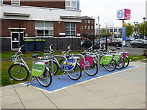 NS5964 : Nextbike Glasgow cycle hire point: City of Glasgow College (Riverside Campus) by Thomas Nugent