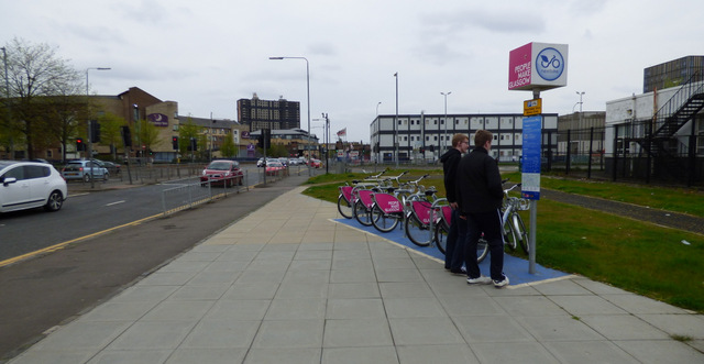 Nextbike Glasgow cycle hire point: City of Glasgow College (Riverside Campus)