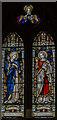 SK9396 : Stained glass window, St Radegund's church, Grayingham by Julian P Guffogg