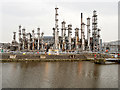 SJ4276 : Stanlow Oil Refinery, Manchester Ship Canal by David Dixon