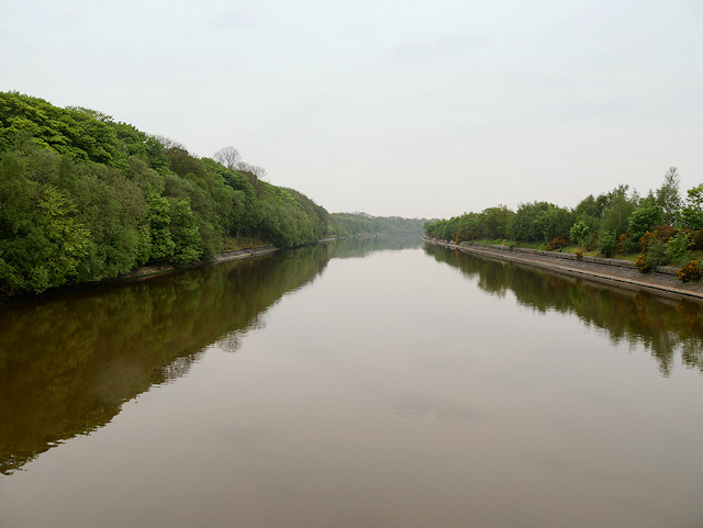 Manchester Ship Canal Between Ellesmere Port and Eastham