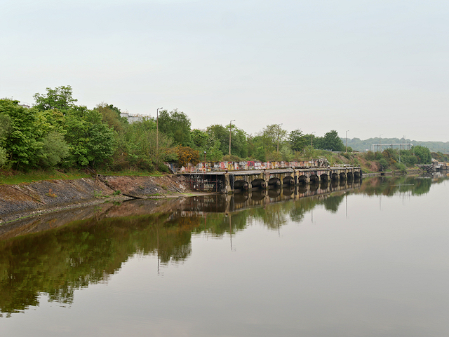 Manchester Ship Canal, De-masting Wharf at Eastham